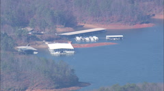 AERIAL United States-Carters Lake Stock Footage