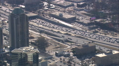 AERIAL United States-Approaching Atlanta From The North - stock footage