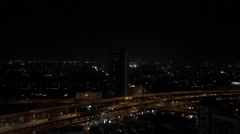 Bangkok Night life on road Stock Footage