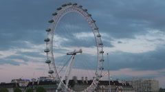 London Eye in London, UK. Stock Footage