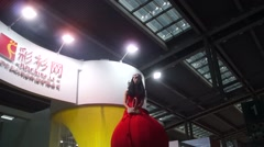 Alternative promotions at the fashion show Stock Footage