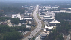 AERIAL United States-Shopping Malls On Way To Milledgeville Stock Footage