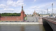 Moscow. Kremlin embankment. Time-lapse photography Stock Footage