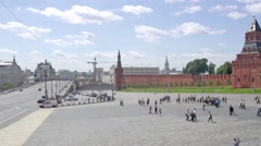 Moscow. City landscape. Time-lapse photography Stock Footage