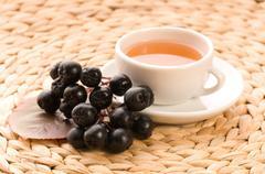 Black chokeberry tea Stock Photos