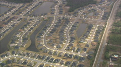 AERIAL United States-Modern Suburb Of Jacksonville Stock Footage