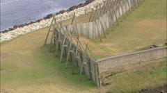 AERIAL United States-Fort Caroline National Memorial Stock Footage