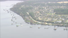 AERIAL United States-Waterside Development At Lakeside - stock footage