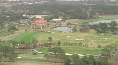 AERIAL United States-Sawgrass Golf Course Stock Footage