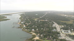 AERIAL United States-St Augustine Light Tower - stock footage