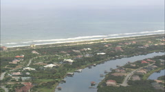 AERIAL United States-Intracoastal Waterway And Waterside Developments Stock Footage