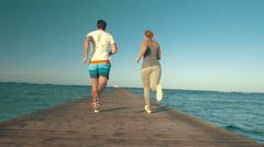 Athletic Friends Stock Footage