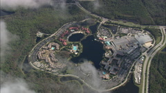 AERIAL United States-Disney's Coronado Springs Resort Stock Footage