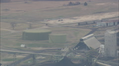 AERIAL United States-Power Station On Lake Monticello Stock Footage