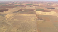AERIAL United States-Landscape Of Circular Fields Stock Footage