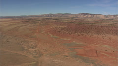 AERIAL United States-Passing Between Horse Mountain And Mesa Gallina Stock Footage