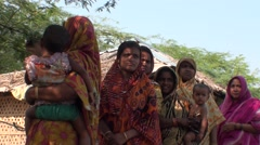 Indian women and children in the forest Stock Footage
