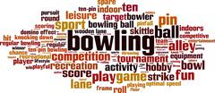 Bowling word cloud Stock Illustration