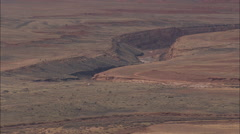 AERIAL United States-Canyon Diablo In Pink Landscape Stock Footage