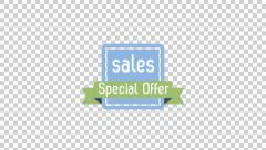 Sale Special Offer Badge animation clip for video or presentation Stock Footage