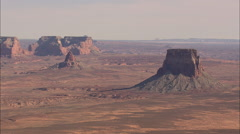 AERIAL United States-Crossing Into Arizona Towards Page Stock Footage