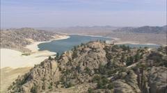 AERIAL United States-Pathfinder Reservoir Stock Footage