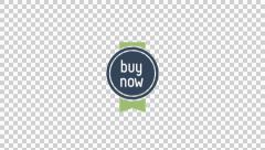 Buy Now Badge animation clip for video or presentation Stock Footage