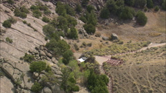 AERIAL United States-Martin's Cove Stock Footage