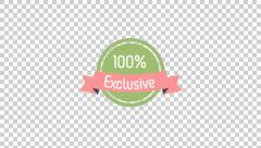 100% Exclusive Badge animation clip for video or presentation Stock Footage
