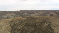 AERIAL United States-Flight Over Hills To Reveal Green River Stock Footage