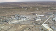 AERIAL United States-Trona Mining Plant Two Stock Footage