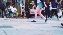 People walking outside Tokyu Plaza, Omohara, Tokyo Stock Footage