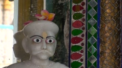 Marble statue in an Indian temple Stock Footage