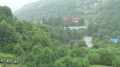 Hutsul region, rain Stock Footage