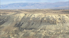 AERIAL United States-Fossil Butte National Monument - stock footage