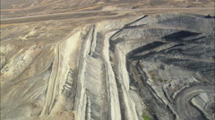 AERIAL United States-Large Open Mine Stock Footage