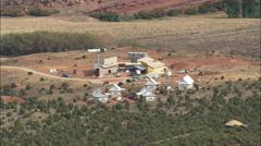 AERIAL United States-Wilderness Medicine Institute Under Construction Stock Footage