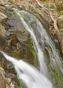 Water and Spray in a Secluded Falls - stock photo