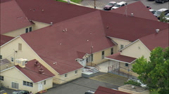 AERIAL United States-Fort Washakie Tribal Hq Stock Footage