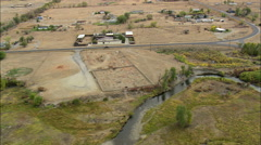 AERIAL United States-Fort Washakie Cemetery Stock Footage