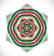 Colorful ornament snowflake. - stock illustration