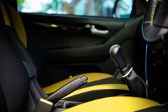 inside car tone yellow - stock photo