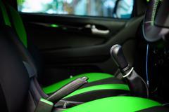 Inside car tone green Stock Photos