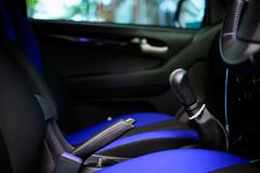 inside car tone blue - stock photo