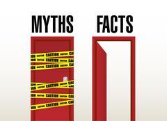 Facts open door concept illustration Stock Photos