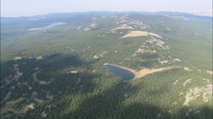 AERIAL United States-Small Lakes In Bighorn Mountains Stock Footage
