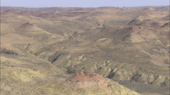 AERIAL United States-Pink Topped Hills Stock Footage