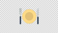 Knife Fork animation clip for video or presentation Stock Footage