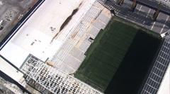 AERIAL Brazil-Rising Over Estadio De Sa~O Paulo Stock Footage