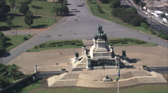 AERIAL Brazil-Monument To The Independence Of Brazil - stock footage